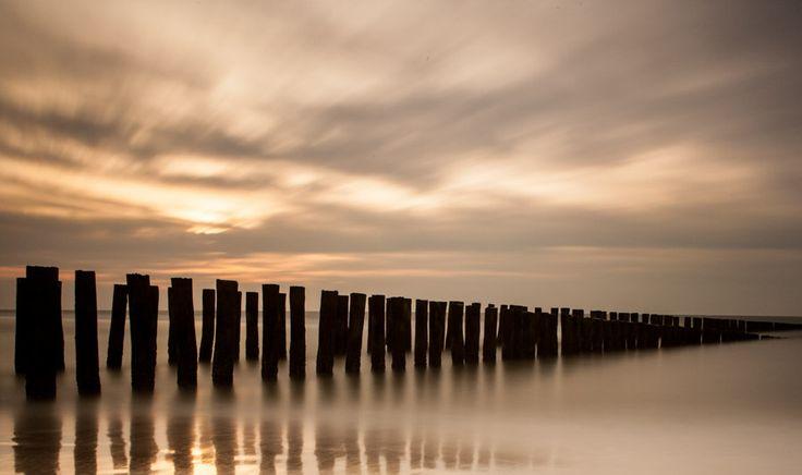 zonsondergang Nederlandse kust