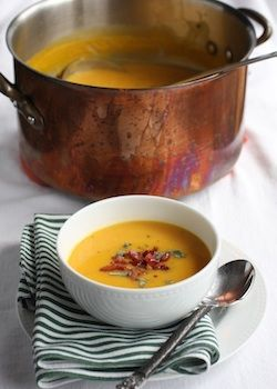 Butternut Squash Soup withPancetta.. need to get some sort of device for blending so I can make infinite butternut squash soup!