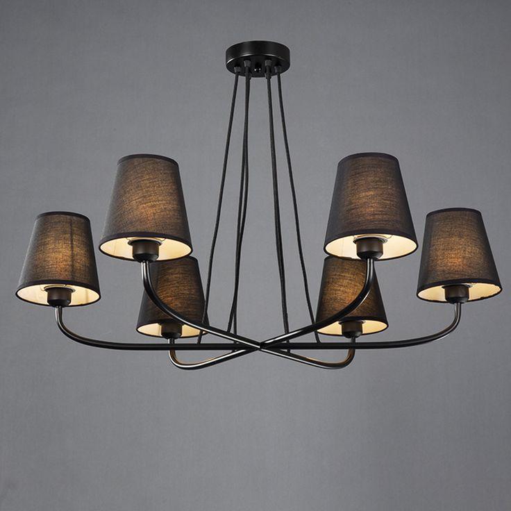 Günstige LED Klassische Schmiedeeiserne Kronleuchter E27 Hause Beleuchtung  Schwarz Kronleuchter 110 220 V Kronleuchter Für Das