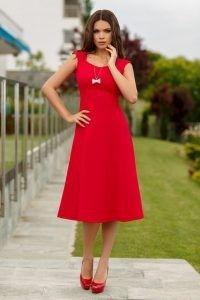 Rochie rosie de zi