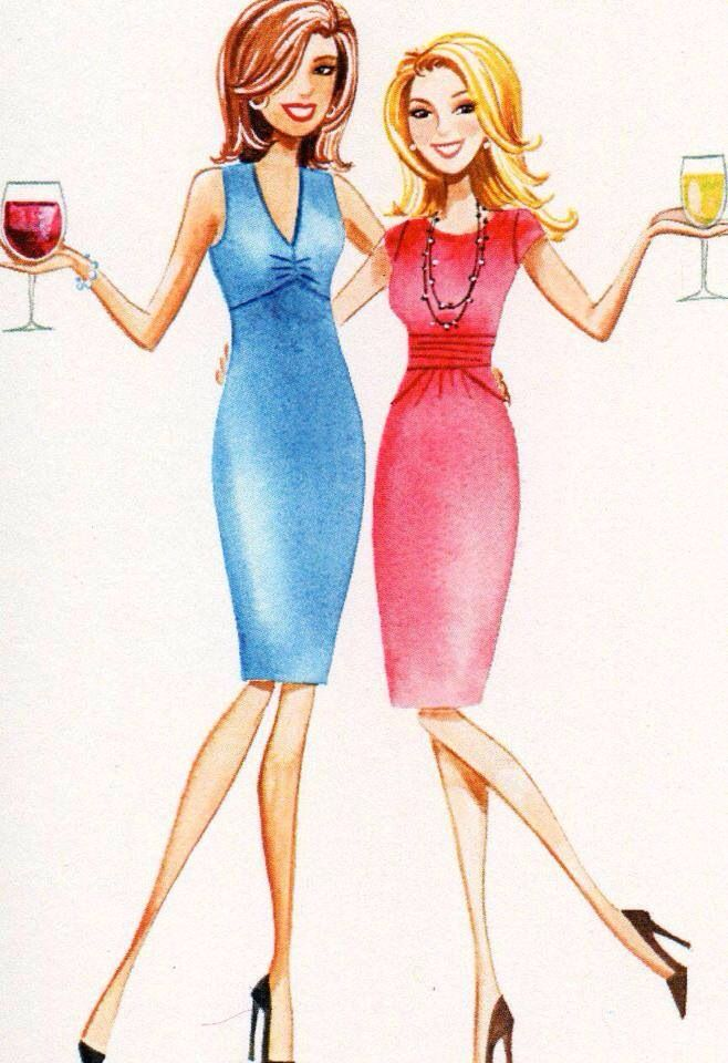 1413 Best Illustrations Girlfriends Sisters Images On