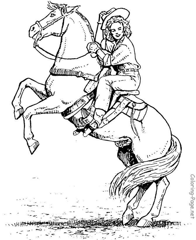 Horseback Rider Drawing
