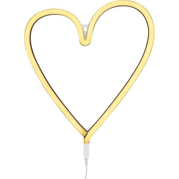 A Little Lovely Company - Neon stijl lamp - Hart - geel