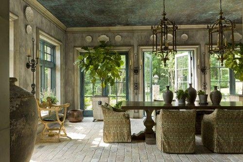 Outdoors - Indoors. Garden Dining   artstar custom paintworks via houzz