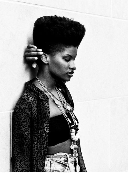 high top fade natural hair black women:
