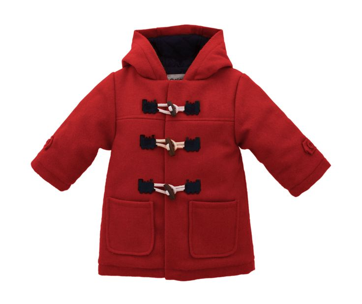 Children&39s duffle coat in red