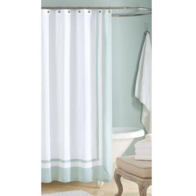 Wamsutta® Hotel Shower Curtain in Aqua - BedBathandBeyond.com
