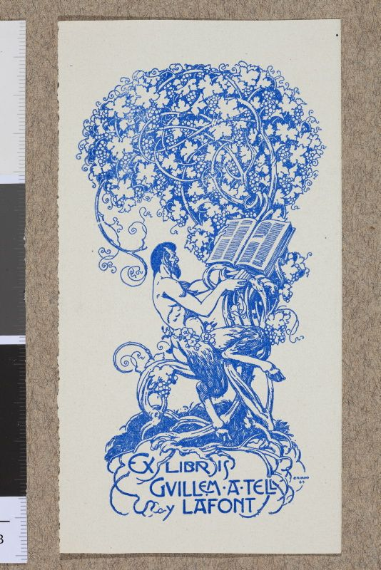 Muzeum Cyfrowe dMuseion - Ex libris Guillem A Tell y Lafont