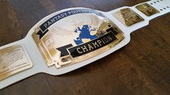 White/Gold Fantasy Football Belt