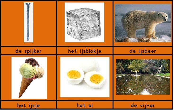 Woordkaartjes voor het aanleren van de klank ei/ij