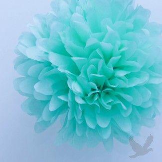 Tiffany Blue Tissue Paper Pom Poms