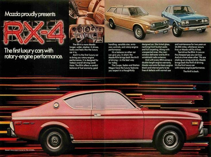 1974 Mazda Rx Red Car Ad Luxury