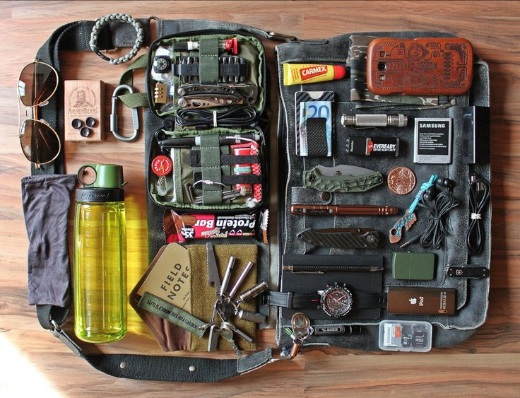 "everydaycarry: ""Submitted by Johnny Brown • Rebels & Legends Across Black Leather Bag • Belrossa WWII Wool Recycled Wallet • Maxpedition EDC Pocket Organizer Olive • Nalgene Everyday OTG • Adidas..."
