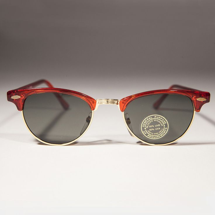 Colorful Brow Line Half Frame Women's Vintage Sunglass - Hedy
