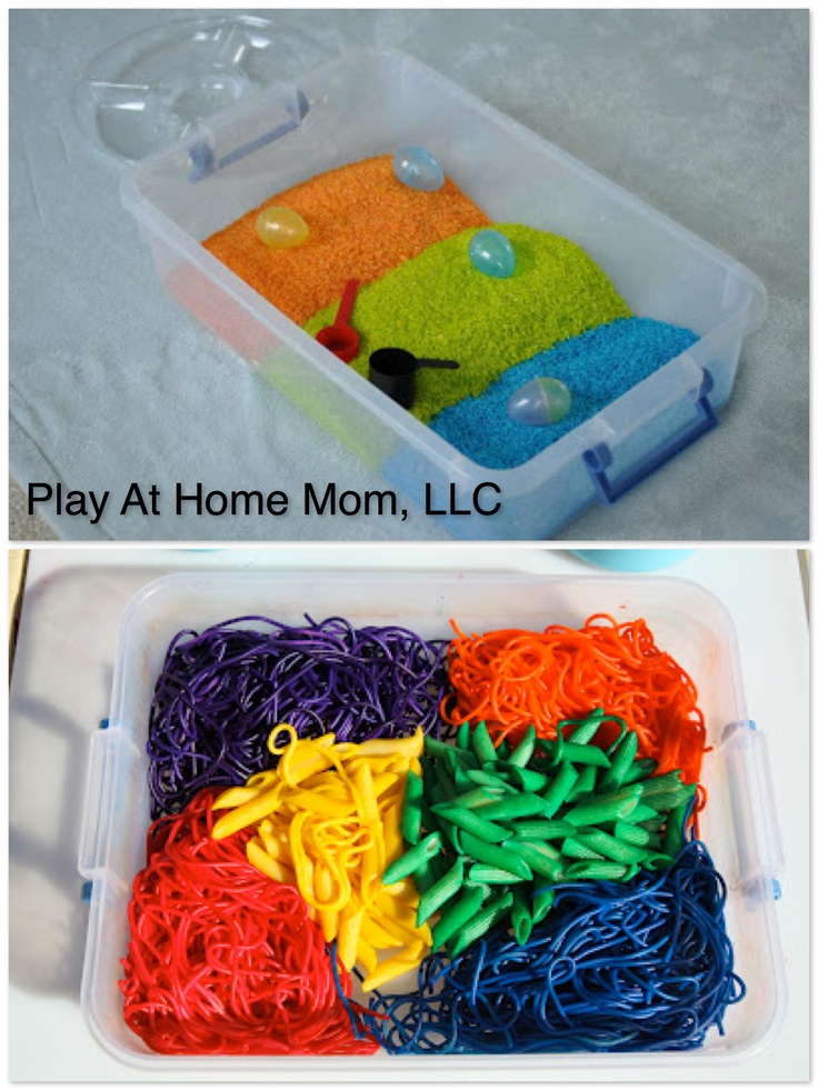 Colored Rice and Pasta for kids