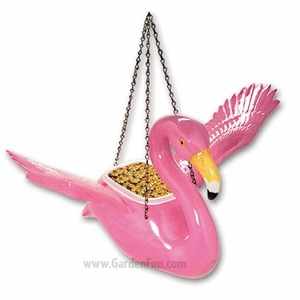 Pink Flamingo Bird Feeder/Planter
