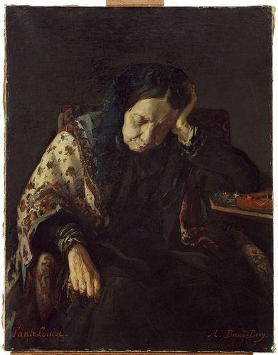 Auguste Baud-Bovy, Portrait de Tante Louise, 1869