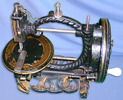 Anchor form machines don't come any more ornate than this! The UK Colchester based Britannia Sewing Machine Co. were responsible for this figural sewing machine delight. Circa 1870.