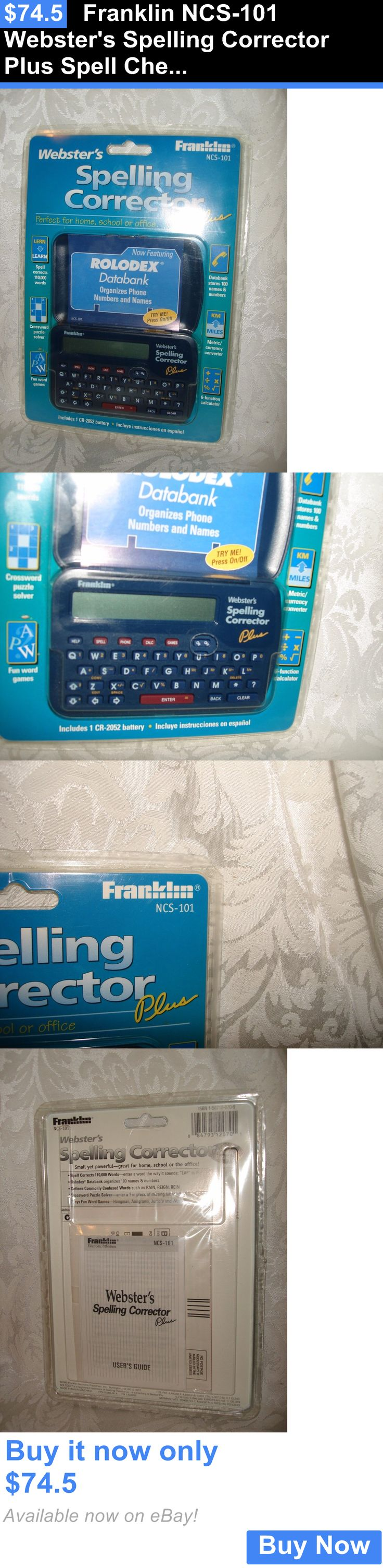 17 best ideas about spelling corrector talking dictionaries and translators franklin ncs 101 websters spelling corrector plus spell check rolodex databank
