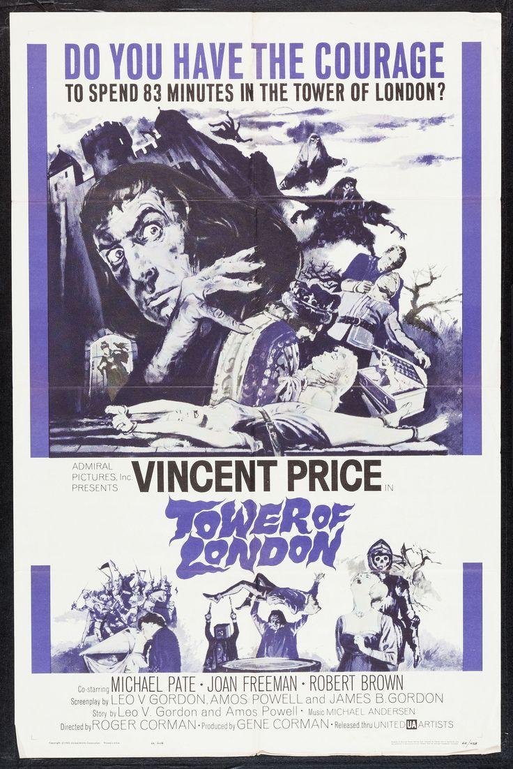 Tower of london 1962 stars vincent price michael pate joan freeman