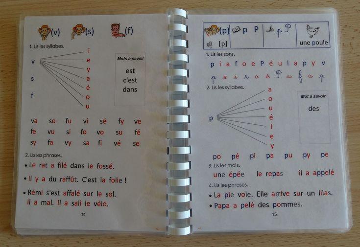 """Livrets d'apprentissage de la lecture au CP Supports type """"manuels de lecture"""" à imprimer soi-même, pour apprendre à lire progressivement, gestuelle Borel-Maisonny www.titline.fr"""