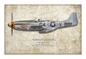 Покраска самолетов - изящный Дотти Р-51d Мустанг - карта фон Крейг трут