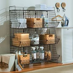 Improvements Sonoma Rustic Wire 9-Cubby Storage Unit (730 DKK) ❤ liked on Polyvore featuring home, furniture, storage & shelves, basement storage, entryway storage, indoor storage, kitchen storage, rustic 9-cubby storage unit, sonoma 9-cubby storage unit and wire cube shelf