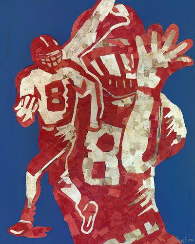 Mosaic Football Player Canvas Wall Art