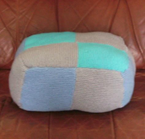 31 x 31 x 15cm Cushion  Made with 'super soft' wool… 'Comfort tests' will be ongoing for sometime to come.  Kimberley xx