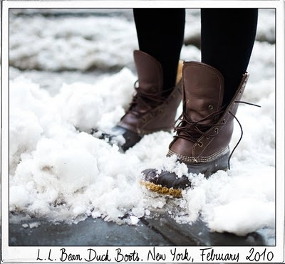 L.L. Bean winter duck boots...i've been planning to buy the mocs for a long time. still need to.