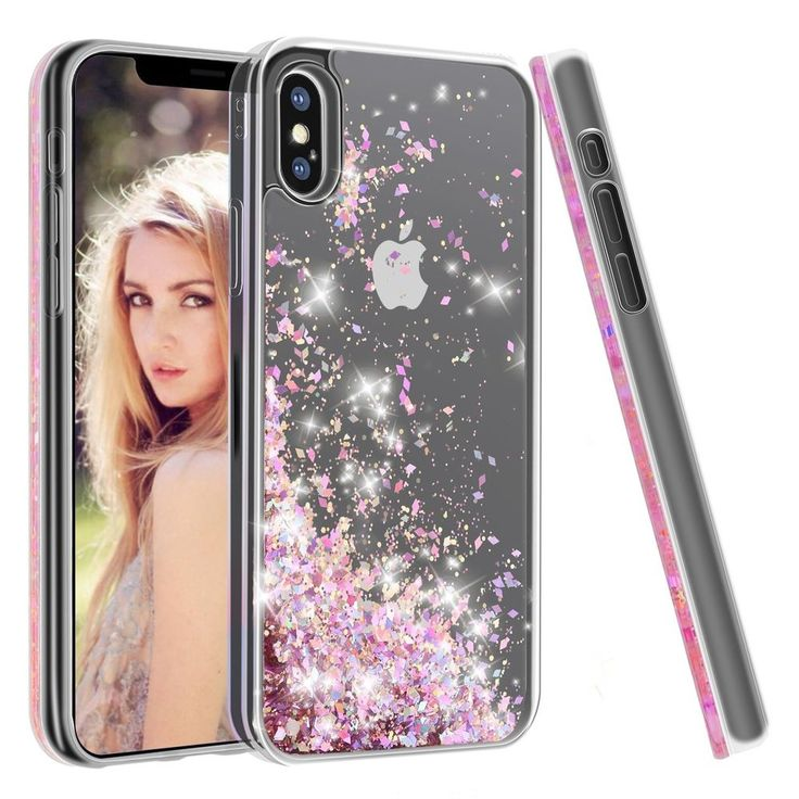 For iPhone X Case Soundmounds Glitter Flowing Liquid Floating Fashion Bling Gift #SoundMounds