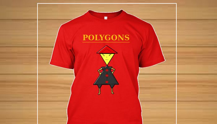 Camisetas originais personagens Familia Polygons - Triangelo
