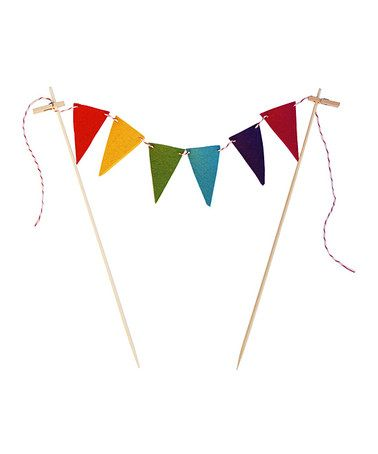 Take a look at this ACME Party Box Company Rainbow Mini Cake Bunting by Sweet Treats Collection on #zulily today!