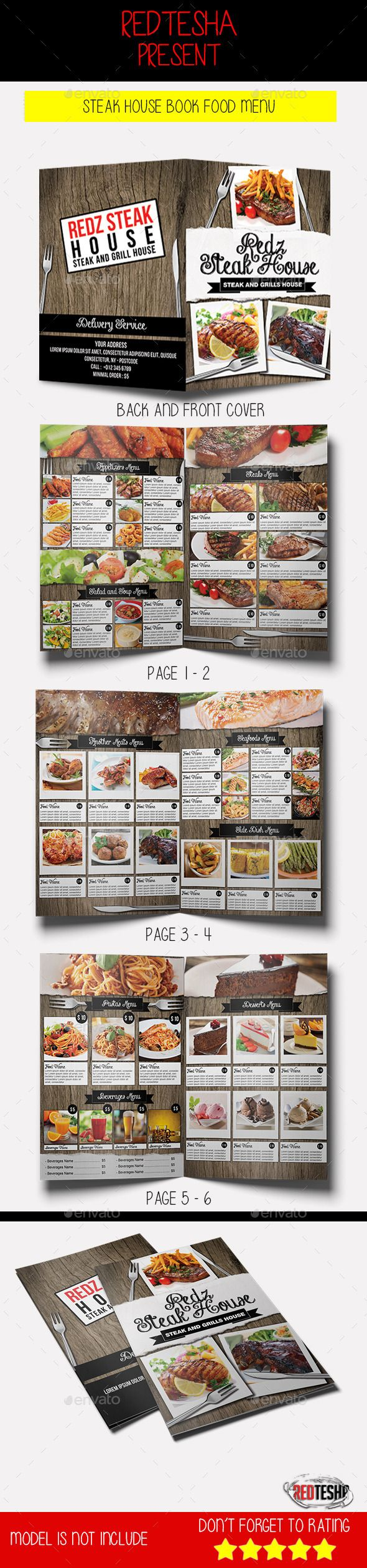White apron menu warrington - Steak House Book Food Menu