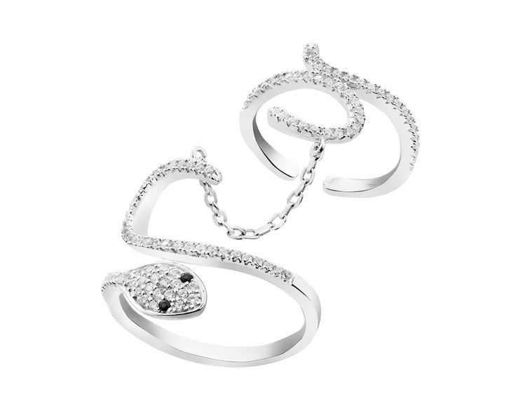 Pierścionek srebrny ze spinelem syntetycznym cyrkoniami | Apart