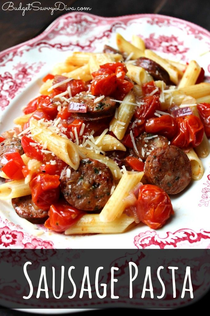 One of the best pasta recipes EVER! Under $10 to make. Gluten - Free. Perfect Weekday meal - Sausage Pasta Recipe #recipe #glutenfree #pasta #budgetsavvydiva via budgetsavvydiva.com