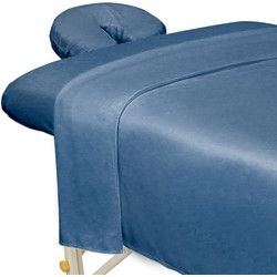 Premium Microfiber 3-Piece Sheet Set - Flat Sheet + Fitted Sheet + Fitted Face Space Cover / Ocean Blue - Premium Microfiber 3-Piece Massage Sheet Set is made from 100% ultra light microfiber material. The material is super soft and cozy yet durable enoug