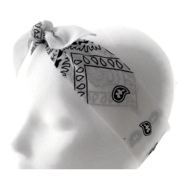 Bandana Headband, Bow Headband, Teen, Woman, Women's, Adult, White ($6) ❤ liked on Polyvore featuring accessories, hair accessories, headwear, hats, head, cotton headbands, bandana bow headband, bow hair accessories, white bandana and tie headbands