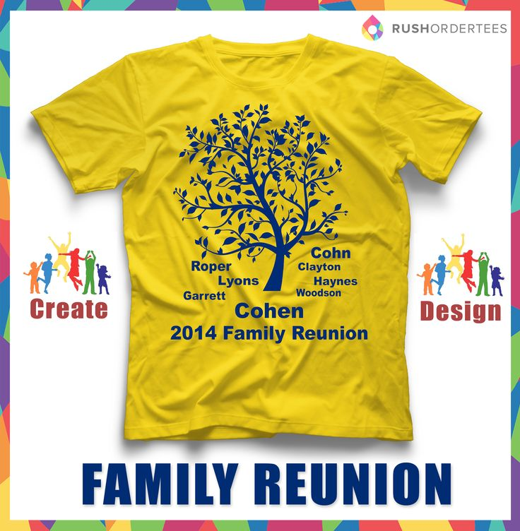 Family Reunion T Shirt Ideas! Create Your Custom Family Reunion T Shirt For