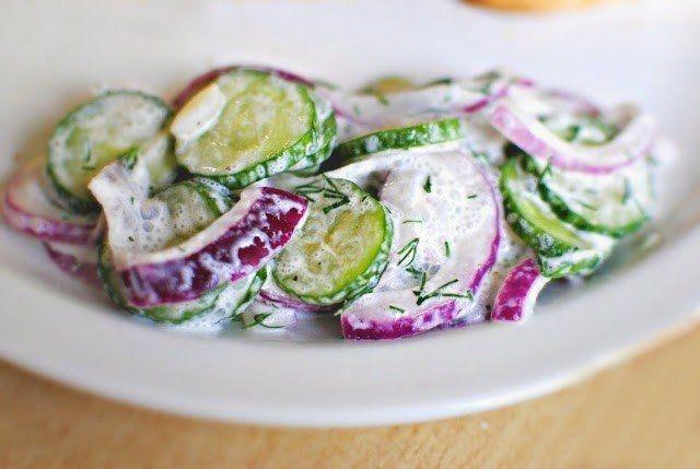 Картинки по запросу Огуречный салат с соусом