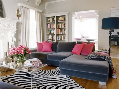 I could just add pink cushions and maybe a throw