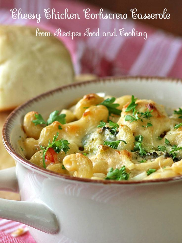 Cheesy Chicken Corkscrew Casserole is made with rotisserie chicken, broccoli and a creamy cheese sauce. #SundaySupper - Recipes, Food and Cooking