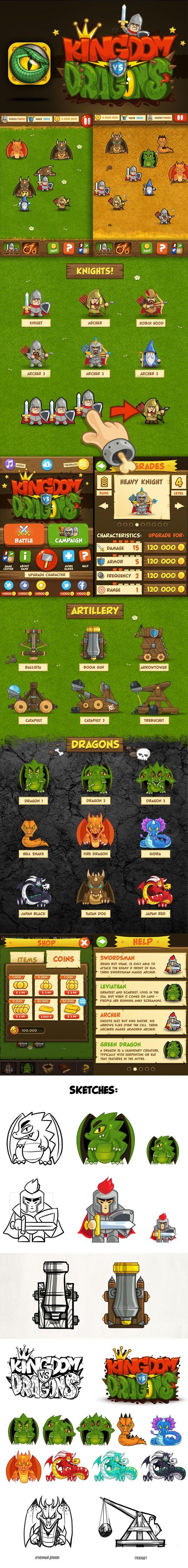 Kingdom Dragons by i-Free Design Studio, via Behance