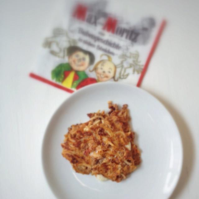 Frittatina di Pastasciutta con ripieno di Mozzarella fiordilatte.