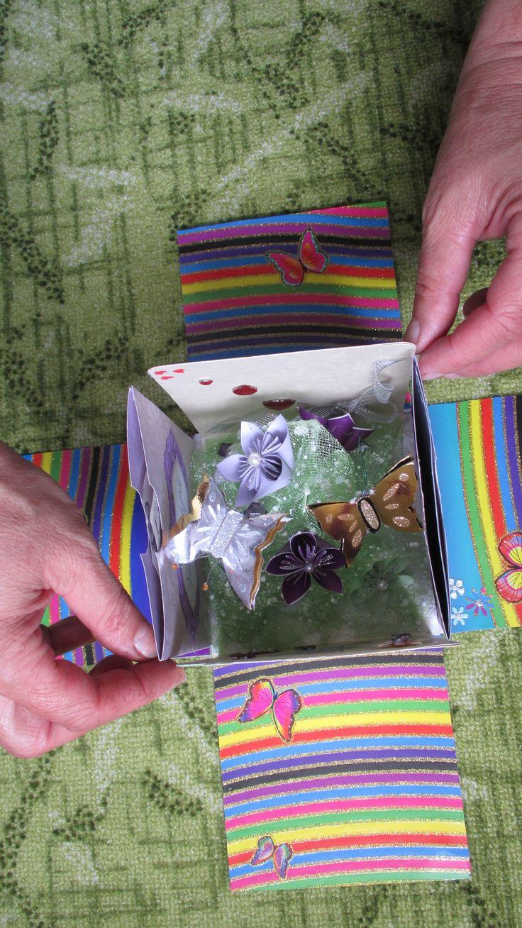 krabička - přání (detail )