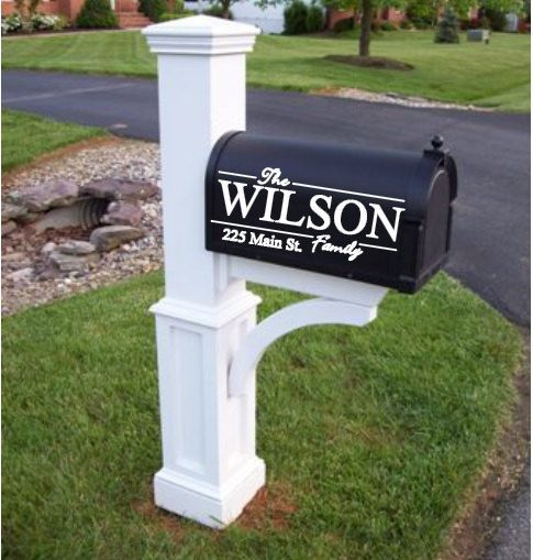 Mailbox DecalFamily Name DecalPersonalized by 2VinylDivas on Etsy, $12.51