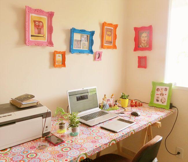 ( BLOG A CASA QUE MINHA VO QUERIA ) Como ter uma mesa home office linda por apenas R$ 140