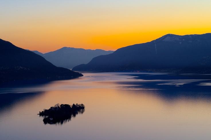 Lago Maggiore, Brissago islands by Ascona. Switzerland..