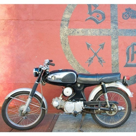 1966 Honda S90 Super 90-- My Dad brought one of these over from Hong Kong durin Vietnam when he was in the Navy. It still runs! I used to ride on this with him as a girl. Such great memories!