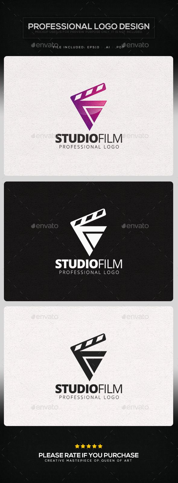 Studio Film  - Logo Design Template Vector #logotype Download it here: http://graphicriver.net/item/studio-film-logo-template/9755529?s_rank=1081?ref=nesto